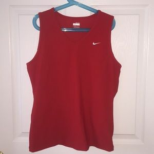 Nike Fit Dry Red Sleeveless Tank